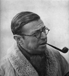 Jean-Paul Sartre pipe