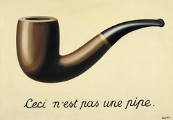 René Magritte pipe